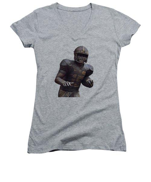 Tebow Transparent For Customization Women's V-Neck T-Shirt (Junior Cut) by D Hackett