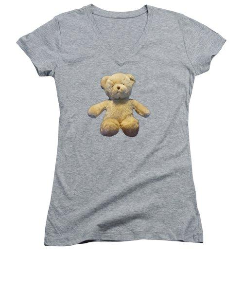 Teddy Bear Women's V-Neck (Athletic Fit)