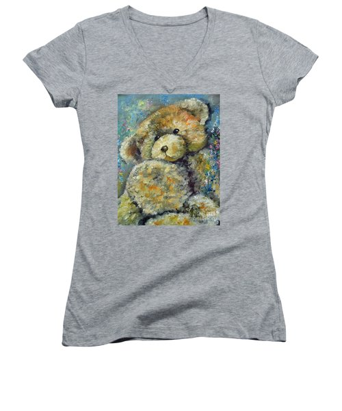 Teddy Bear Women's V-Neck