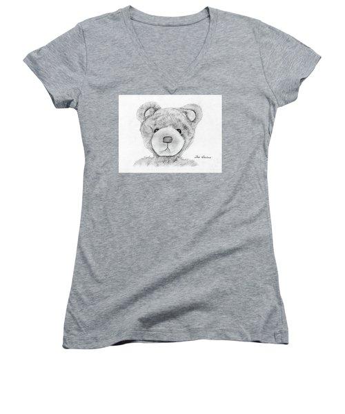Teddybear Portrait Women's V-Neck
