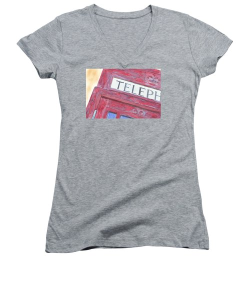 Telephone Booth Women's V-Neck T-Shirt