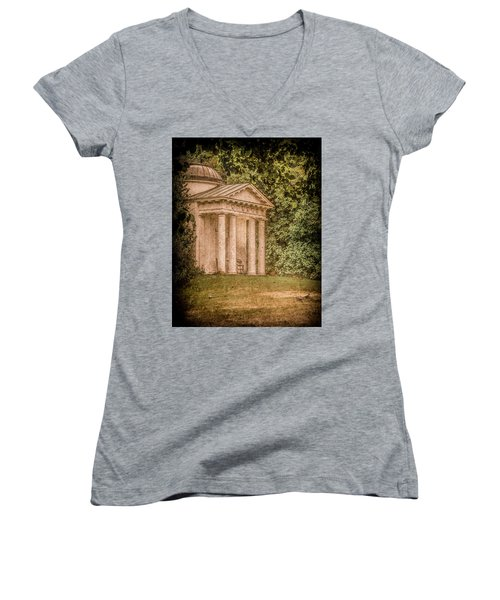 Kew Gardens, England - Temple Of Bellona Women's V-Neck