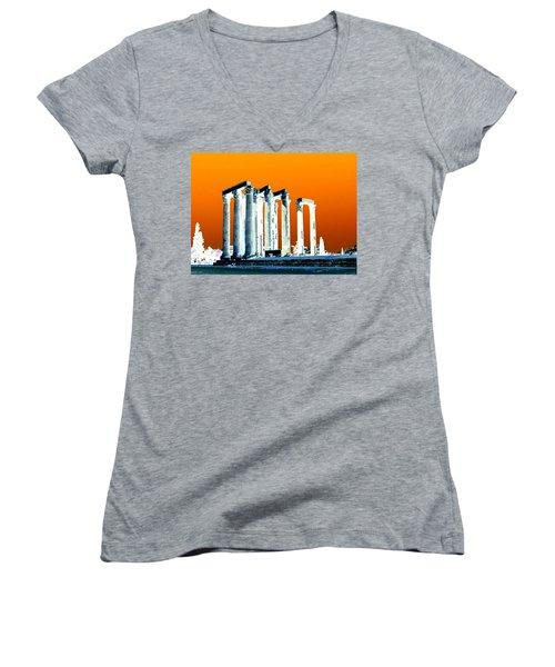 Temple Of Zeus Women's V-Neck