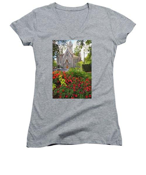 Temple Square Flowers Women's V-Neck
