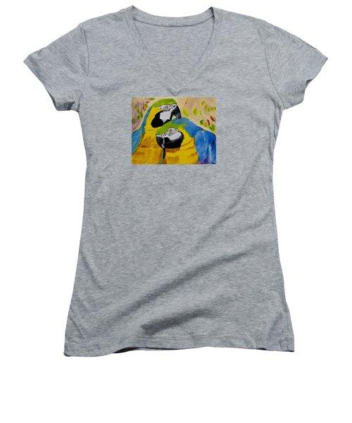Tender Birdsong  Women's V-Neck T-Shirt (Junior Cut) by Meryl Goudey