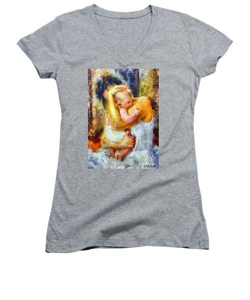 Tender Moment Women's V-Neck T-Shirt (Junior Cut)
