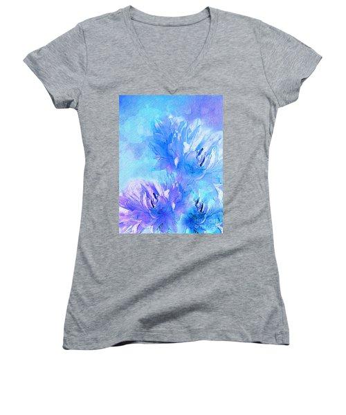 Women's V-Neck T-Shirt (Junior Cut) featuring the digital art Tenderness by Klara Acel