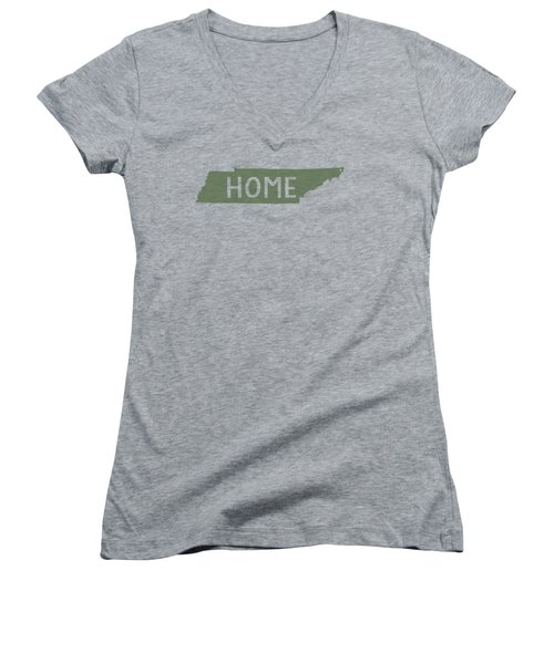 Tennessee Home Green Women's V-Neck (Athletic Fit)