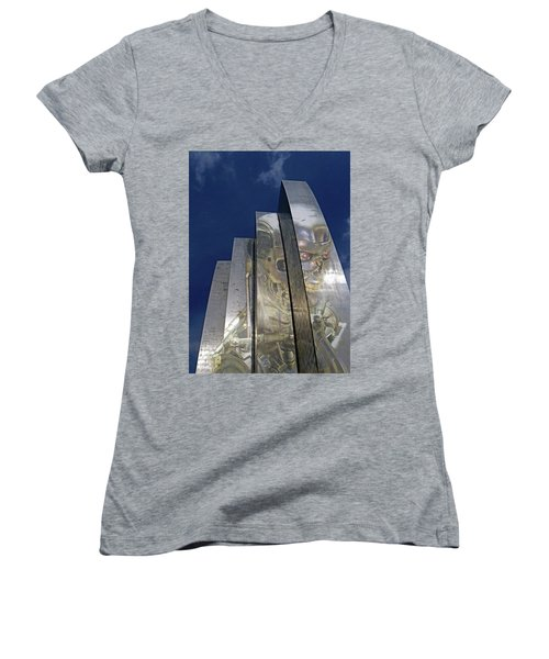 Women's V-Neck T-Shirt (Junior Cut) featuring the photograph Termination by Christopher McKenzie