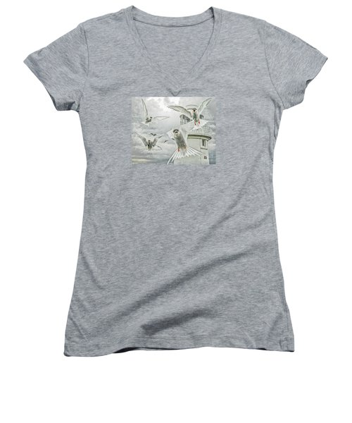 Tern Attack Women's V-Neck (Athletic Fit)