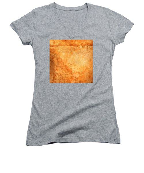 Terracotta Wall Women's V-Neck (Athletic Fit)
