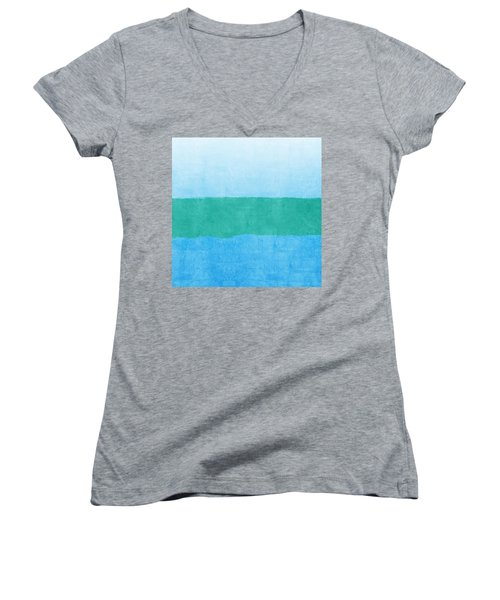 Women's V-Neck T-Shirt (Junior Cut) featuring the photograph Test by Linda Woods