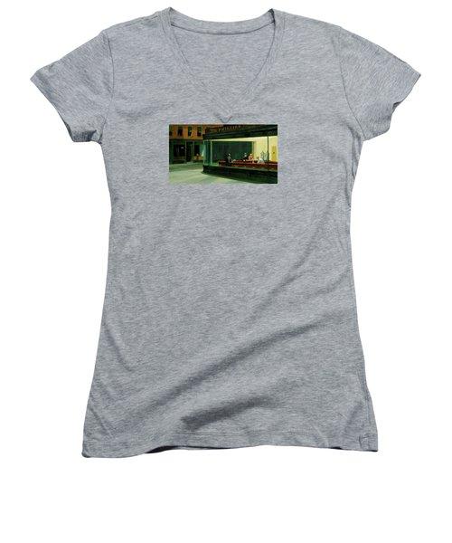 Test Mountain Women's V-Neck T-Shirt