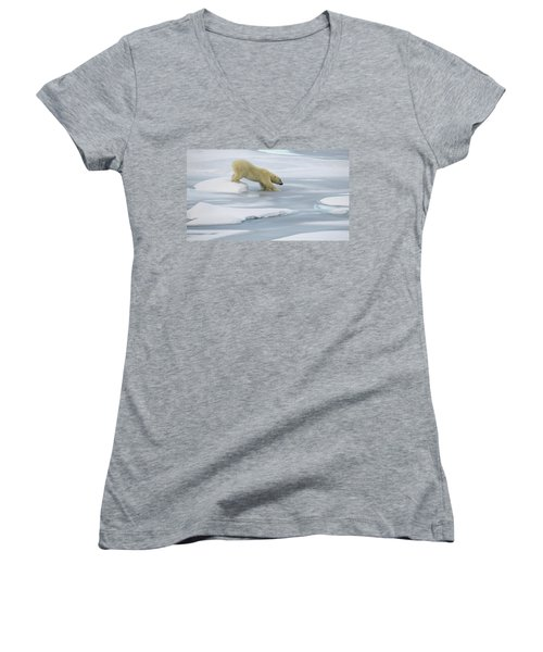 Testing The Ice Women's V-Neck T-Shirt