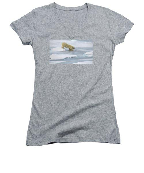 Testing The Ice Women's V-Neck T-Shirt