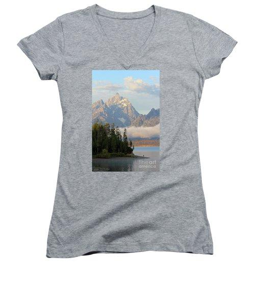 Teton Early Morning Women's V-Neck T-Shirt