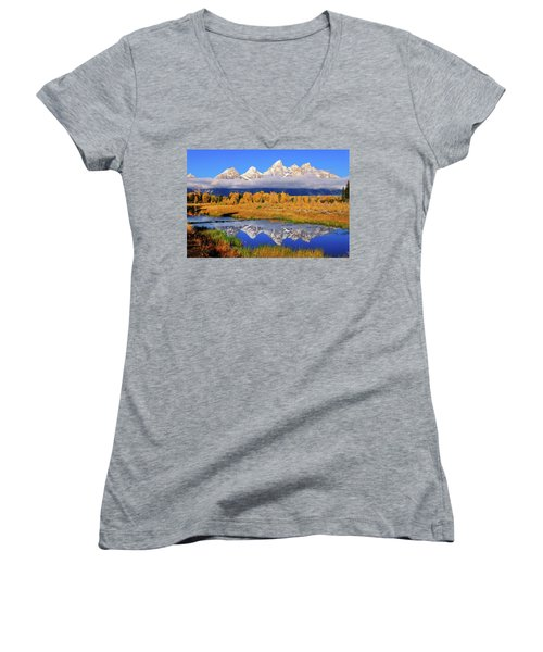 Teton Peaks Reflections Women's V-Neck