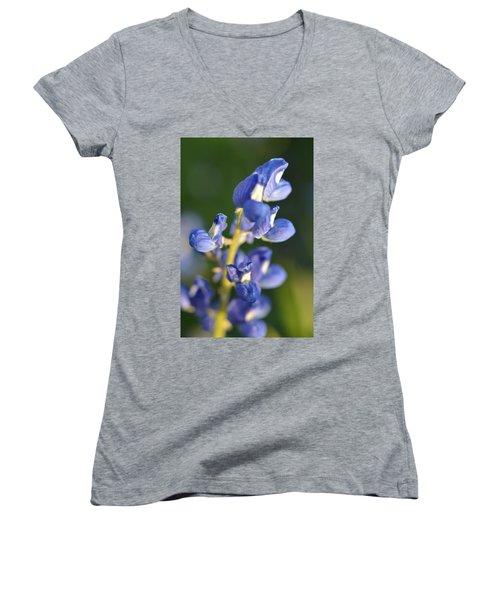 Texas Blue Bonnet Details 1 Women's V-Neck T-Shirt