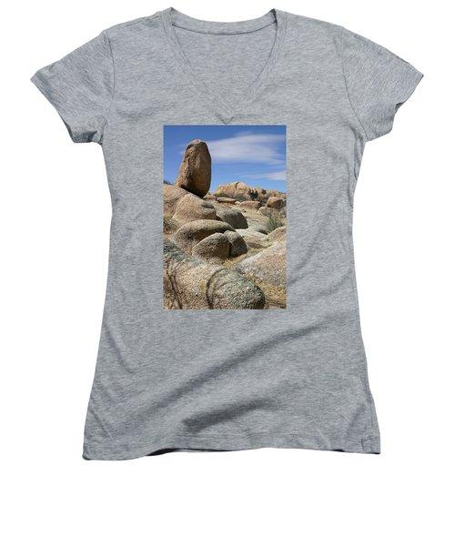 Texas Canyon Women's V-Neck T-Shirt (Junior Cut) by Joe Kozlowski
