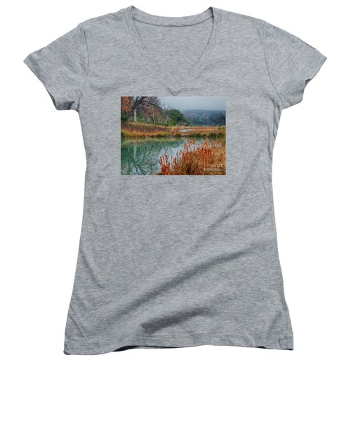 Texas Hill County Color Women's V-Neck (Athletic Fit)