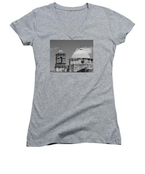 Texas Mission  Women's V-Neck T-Shirt