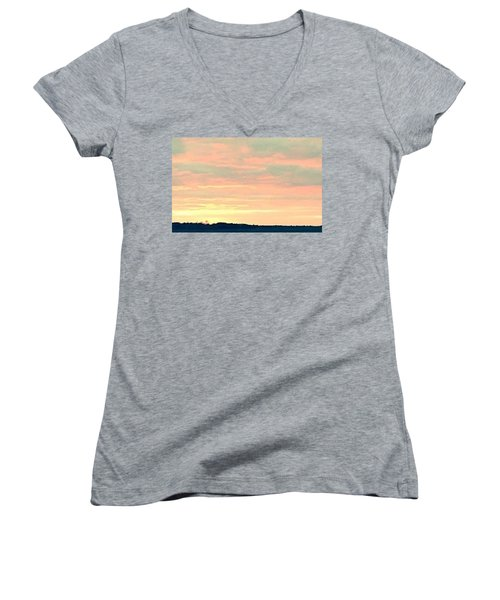 Women's V-Neck T-Shirt (Junior Cut) featuring the photograph Texas On The Horizon by John Glass