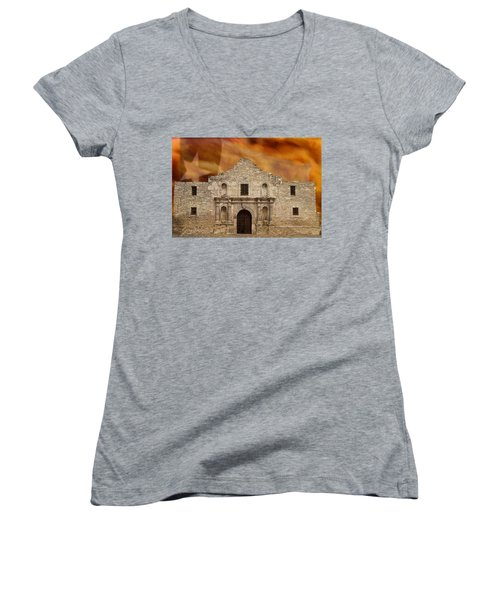 Women's V-Neck featuring the photograph Texas Pride by Scott Read