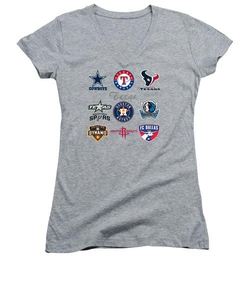 Texas Professional Sport Teams Women's V-Neck