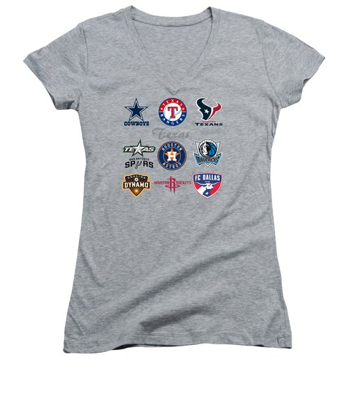 Texas Professional Sport Teams Women's V-Neck (Athletic Fit)