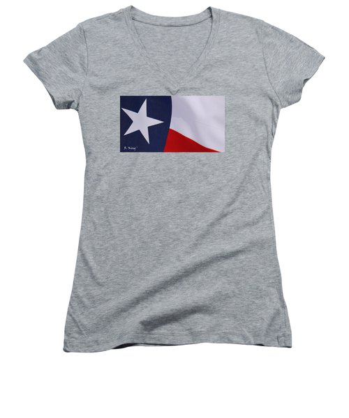 Texas Star Women's V-Neck (Athletic Fit)