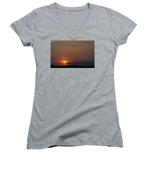 Texas Sunrise Women's V-Neck