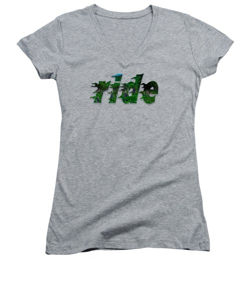 Text Lupen Ride Women's V-Neck T-Shirt