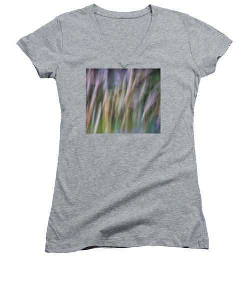 Textured Abstract Women's V-Neck