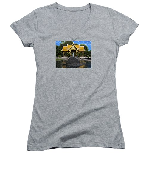 Thai Pavilion - Madison - Wisconsin Women's V-Neck T-Shirt