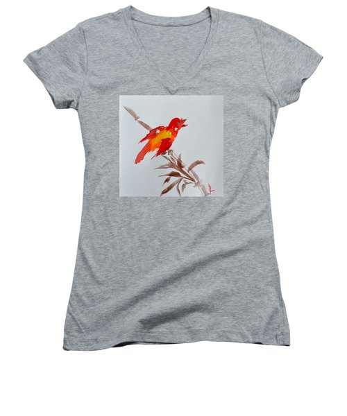 Thank You Bird Women's V-Neck (Athletic Fit)
