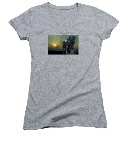 Thanks For The Rain  Women's V-Neck T-Shirt