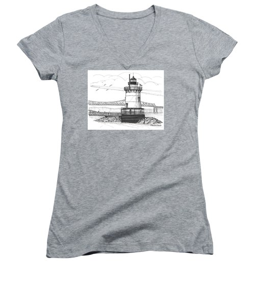 The 1883 Lighthouse At Sleepy Hollow Women's V-Neck