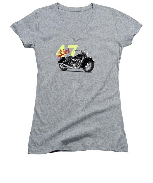 The 1947 Chief Women's V-Neck T-Shirt