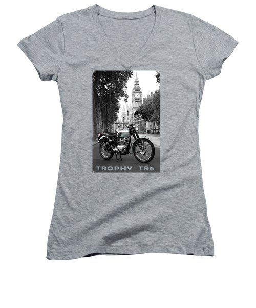 The 1956 Trophy Tr6 Women's V-Neck T-Shirt