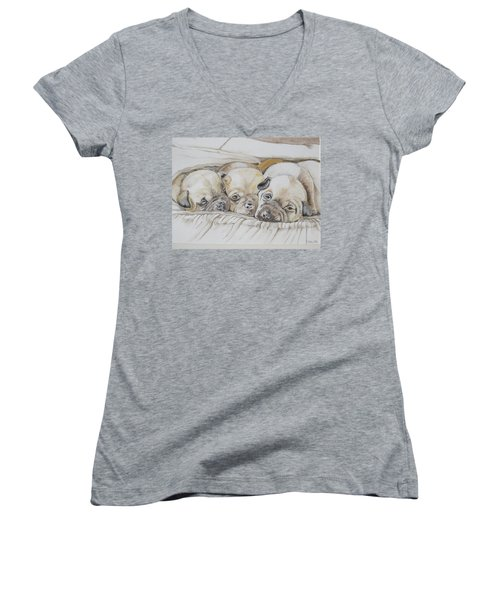 The 3 Puppies Women's V-Neck (Athletic Fit)