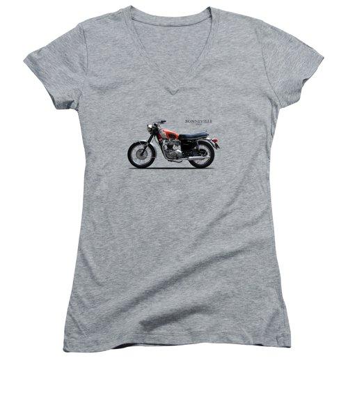 The 69 Bonnie Women's V-Neck T-Shirt (Junior Cut) by Mark Rogan