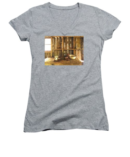 The Abandoned Cabin Women's V-Neck T-Shirt
