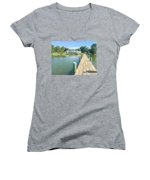 The Abbey On Cooper Point Women's V-Neck (Athletic Fit)