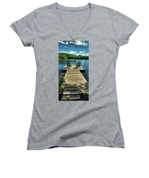 The Adirondacks Women's V-Neck