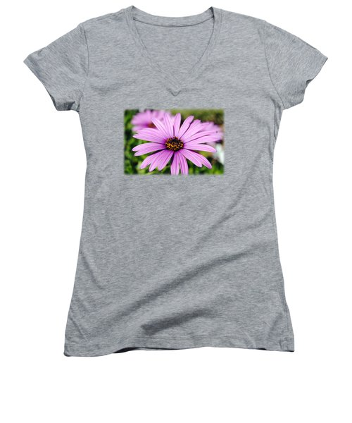 The African Daisy T-shirt 1 Women's V-Neck T-Shirt (Junior Cut) by Isam Awad