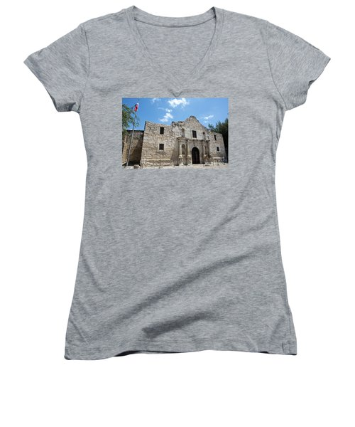 The Alamo Texas Women's V-Neck T-Shirt
