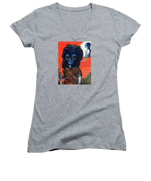 The Alien Braveheart Women's V-Neck