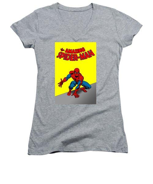 The Amazing Spider-man Women's V-Neck