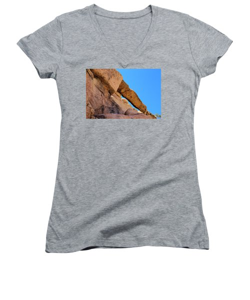 The Arch In Joshua Tree Np Women's V-Neck
