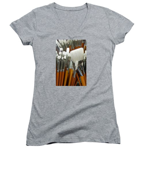 The Artist In The Brush 2 Women's V-Neck (Athletic Fit)